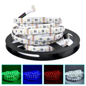 RGBW LED Strip 5050 12V Tape RGB+White/Warm White 4 in 1 Chip 60LEDs/M Flexible LED Light pictures & photos