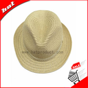 White Paper Straw Fedora Hat pictures & photos