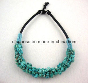 Semi Precious Stone Turquoise Crystal Chips Beaded Necklace pictures & photos