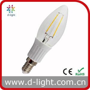 Plastic Candle Shape E14 2W Filament LED Bulb pictures & photos
