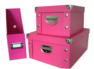 Colored Folded Storage Box and Stylish Magazine File pictures & photos