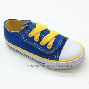 Vulcanized Canvas Sneaker Shoes for Unisex Kids (ET-LH170488K) pictures & photos