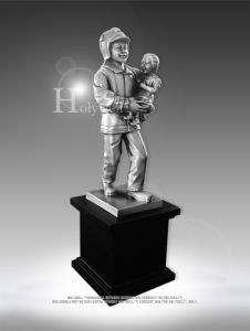Custom Fireman Award for Ceremong Use