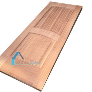 Convex Line 2 Panel Sapelli Veneer Moulded HDF Door Skin pictures & photos