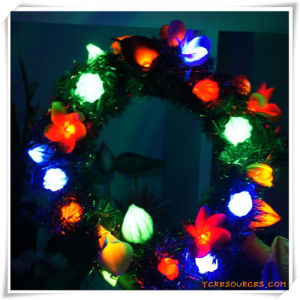 LED Artificial Flowers Wreath for Promotion pictures & photos