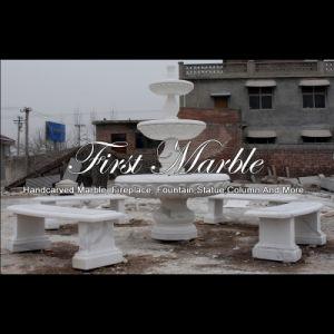 White Carrara Marble Stone Fountain for Garden Furniture Mf-1180