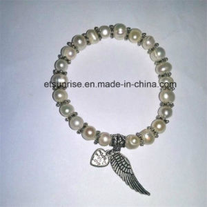 Semi Precious Stone Fashion Crystal Pearl Beaded Jewelry Bracelet pictures & photos