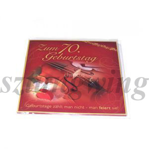 Big Music Greeting Card for Wedding or Birthday pictures & photos