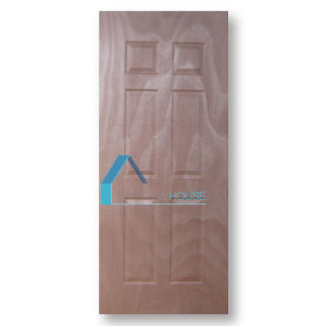 Cheap Laminate Moulded 3 Panel Plywood Door Skin with Natural Black Walnut pictures & photos