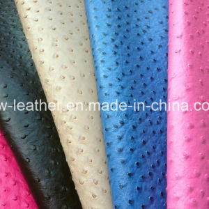 Ostrich Grain PU Leather for Clothes pictures & photos