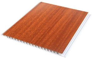 Wooden Color Laminating PVC Ceiling Tiles House Inner Decoration Materirial (RN-46) pictures & photos