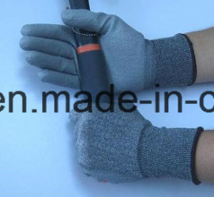 18 Gauge Anti-Cut Work Glove with PU (K8090-18) pictures & photos