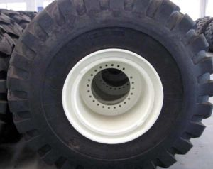 29.5-25 OTR Tire and Rim Assembly Inflated with Rubber O-Ring and Valve