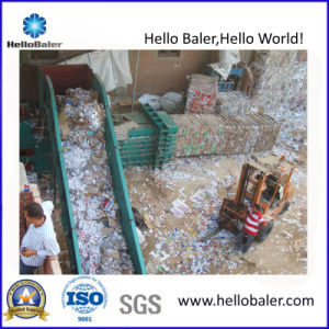 Horizontal Hydraulic Waste Paper Baler with Conveyor (HSA4-7) pictures & photos