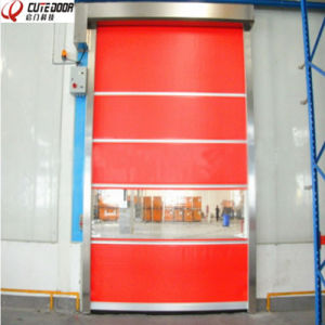 High Speed Remote Control Garage Door PVC Rolling Door pictures & photos