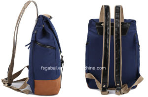 Fashion Lady′s Canvas Sport Laptop Backpack Bag pictures & photos