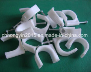 Hy-R-30 Circle Plastic Cable Clips with Nail 3.5*55 pictures & photos