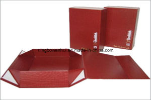 Customized PU Leather Folding Gift Packaging Box pictures & photos