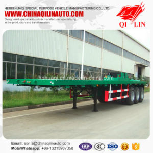 40 Feet Tridem Flatbed Container Semi Trailer Specification pictures & photos
