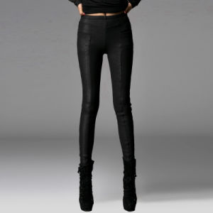 Fashion Sweet Warm Snakeskin Leather Casual Pants (PK-008) pictures & photos