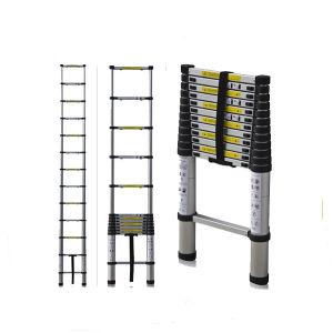 Multi-Purpose Single Telescopic Ladder 3.8m with Carry Bag pictures & photos