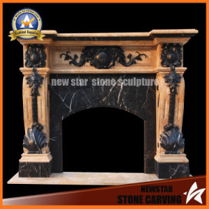 Multi Colour Marble Fireplace Mantel pictures & photos