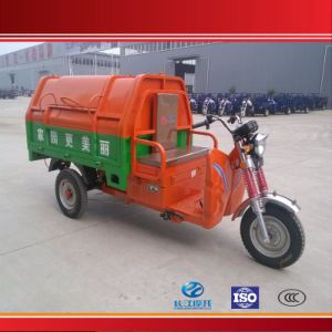 China Hot Sell 3 Wheel E Rickshaw for Garbage with Closed Body