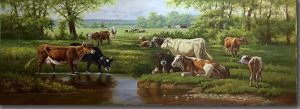 The Rest Cows in Oil Painting pictures & photos