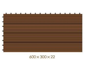 600*300*22mm Easy Installation and Low Maintance WPC DIY Tiles, WPC Outdoor Laminated DIY Flooring, Wood Plastic Composite Decking pictures & photos