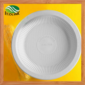 8 Inch Disposable Cutlery Cornstarch Plate pictures & photos