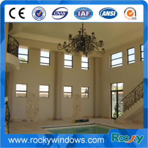 Fixed Frame Aluminium Profile Shutter Window Made in Tempered Glass pictures & photos