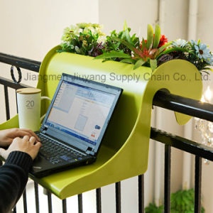 Carry Your Laptop Enjoy Your Working Time in Our ABS Balance Table with Plants pictures & photos