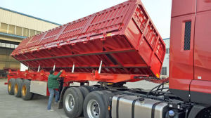 Manufacturer 3 Axles Side Dump Semi Trailer pictures & photos