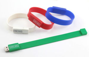 Wristband Style Custom USB Flash Drive Laser Engrave pictures & photos