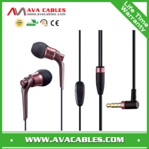 Fashionable Metal in Ear Earphone with Mic for Mobile Phone