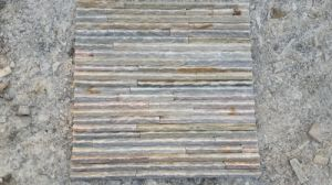 Yellow Slate Stacked Stone for Wall (SSS-57) pictures & photos