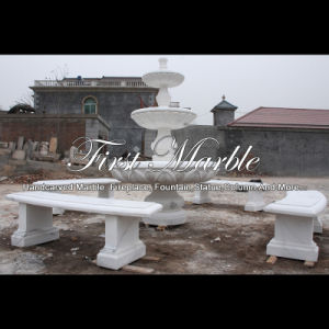 White Carrara Marble Stone Fountain for Garden Furniture Mf-1180 pictures & photos
