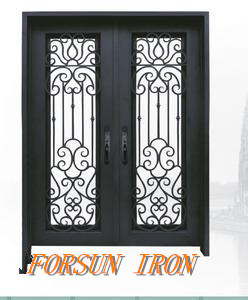 Cheaper Price Wrought Iron Security Doors Manufacturer pictures & photos
