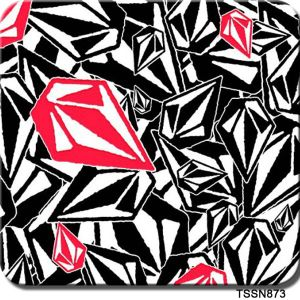 Tsautop 0.5m Width Diamond Black Red Design Dipping Hydrographic Water Transfer Printing Film pictures & photos