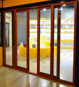 High Quality Woodgrain PVC Sliding Door (BHP-SD08) pictures & photos
