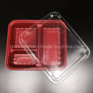 Disposable Food PP Plastic Black Sushi Box with China Manufacturer pictures & photos
