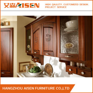 2016 Wood Kitchen Furniture Contemporary Solid Wood Kitchen Cabinet pictures & photos