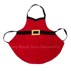 Wholesale Santa Cute Funny Frilly Christmas Hiloday Cotton Bib Apron