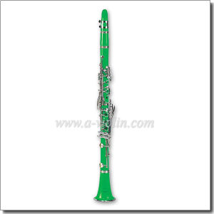Nickel Plated Keys Colorful 17 Keys Green Clarinet (CL3071-Green) pictures & photos