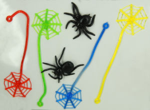 Promotion Sticky Black Spider Plastic Toys