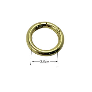 Handbags Plated Metal O Ring Spring Buckles (inner dia: 2.5cm) pictures & photos