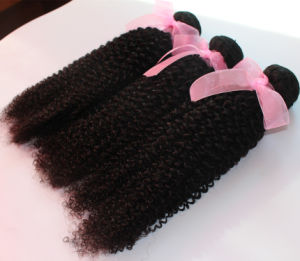 Kinky Curl Natural Color Brazilian Virgin Human Hair Extension pictures & photos