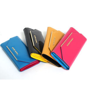 New Arrival and Fashionable Women Genuine Leather Wallet (Z06-5049) pictures & photos