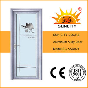 Single Swing Bathroom Glass Aluminum Doors (SC-AAD020) pictures & photos