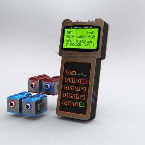 Handheld and Portable Flow Sensor Flowmeter, Wall Mounted Ultrasonic Flow Meter pictures & photos